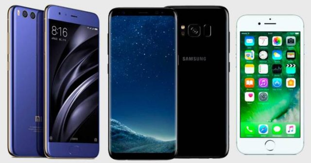 Comparativa (nuevo) Xiaomi Mi6 vs. iPhone 7 vs. Galaxy S8