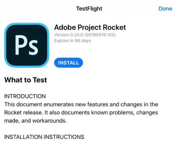 Adobe releases the first beta version of Photoshop for iPad